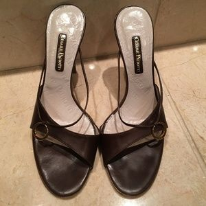 Cesare Paciotti Brown Stiletto Heels